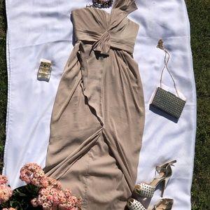 BCBGMAXAZRIA neutral dress